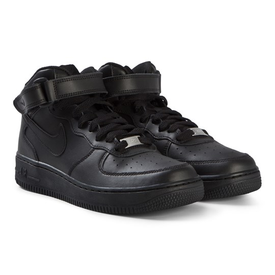 NIKE Black Air Force 1 Mid Shoes 004