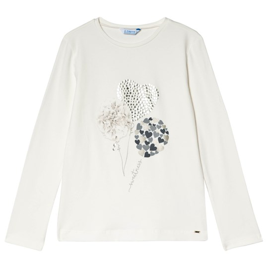 Mayoral Off White Balloon Print Long Sleeve Tee 48