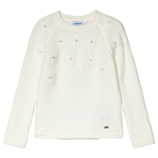Mayoral Cream Embroidered Sweater 16