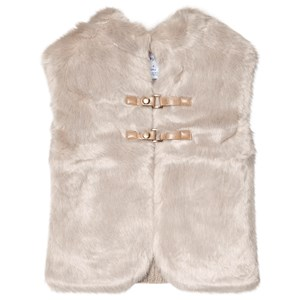 Image of Mayoral Cream Faux Fur and Knitted Back Gilet 8 years (3056090401)