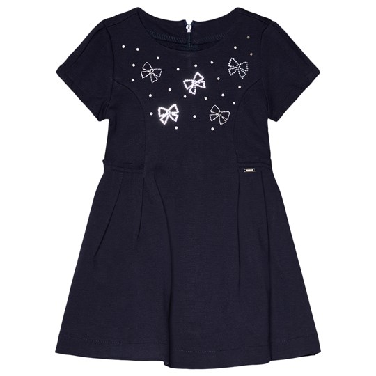 Mayoral Crystal & Bow Dress Navy 50