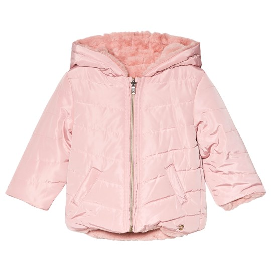 Mayoral Faux Fur Reversible Jacket Pink 12