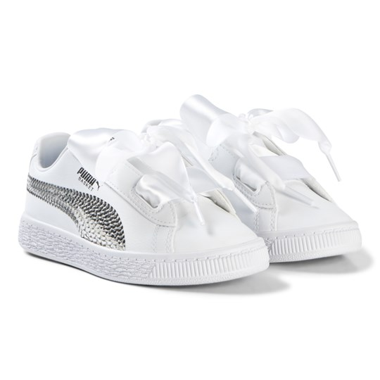 separation shoes 88831 ce4ae Puma - Basket Heart Star Trainers White - Babyshop.com
