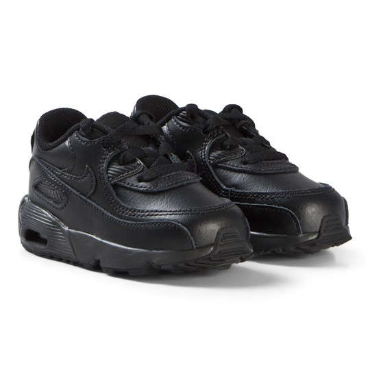 NIKE Black Nike Air Max 90 Infants Leather Shoes 001