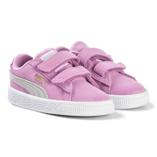 Puma Pink Suede Classic Strap Trainers Orchid