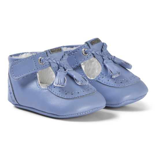 Mayoral Blue Tassel Brogue Crib Shoes 81