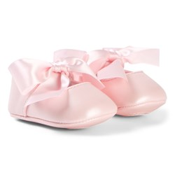 Mayoral Pink Ribbon Bow Crib Shoes