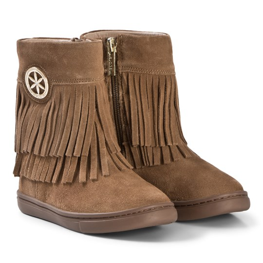 Mayoral Tan Leather Fringed Boots 10