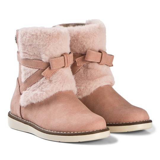 Mayoral Pink Faux Fur Bow Detail Cuff Boots 74