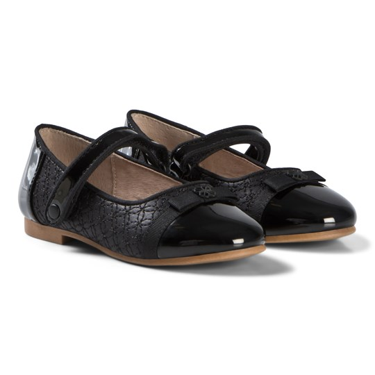 Mayoral Black Patent Mary Janes with Bow 87