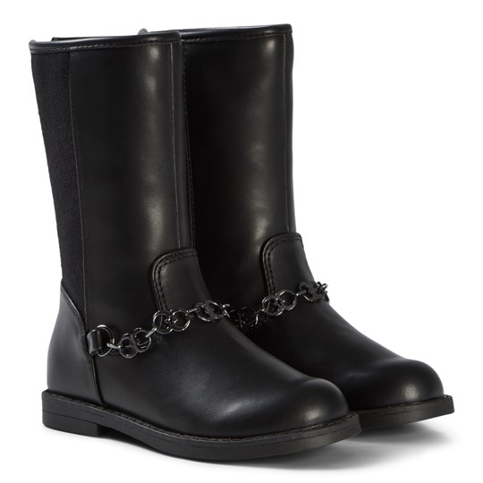 Mayoral Black Chain Detail Tall Boots 94