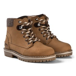 Mayoral Tan Lace Up Leather Boots