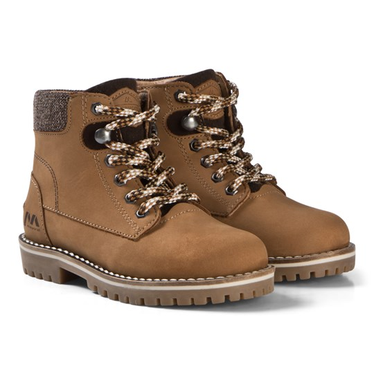 Mayoral Tan Lace Up Leather Boots 49