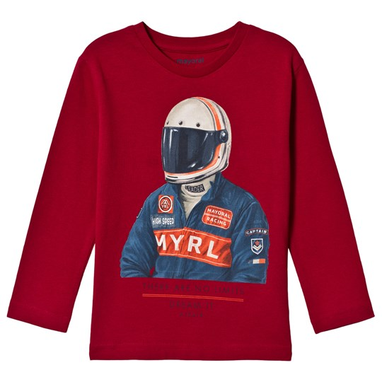 Mayoral Red Racer Print Long Sleeve Tee 15