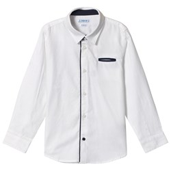 Mayoral White Smart Shirt with Check Bow Tie