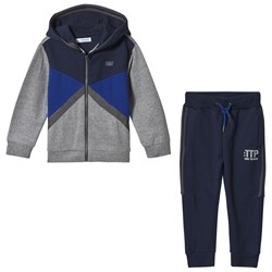 Mayoral Navy and Grey Color Block Tracksuit