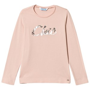 Image of Mayoral Pink Chic Jewel Applique Long Sleeve Tee 14 years (3056091699)