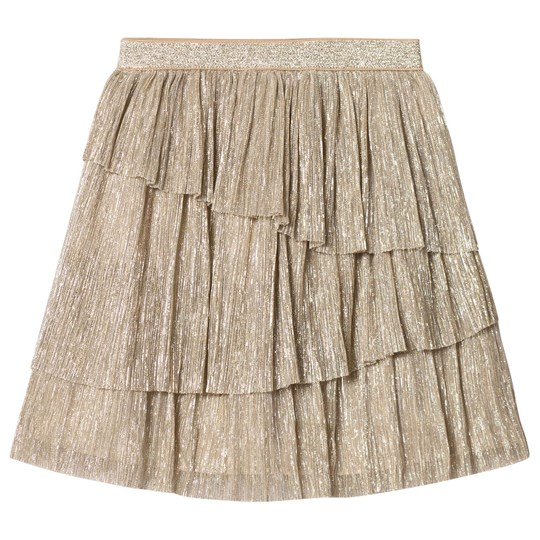 Mayoral Gold Glitter Pleated Skirt 82