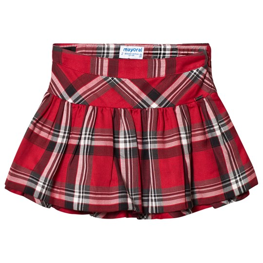Mayoral Red Check Skirt 10