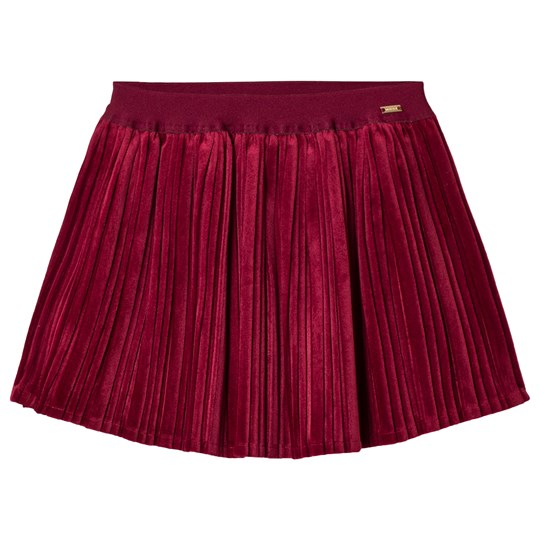 Mayoral Red Velvet Pleated Skirt 78