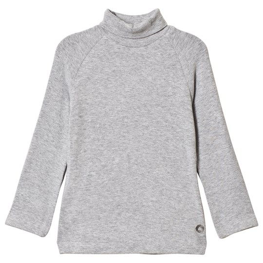 Mayoral Grey Basic Ribbed Polo Neck Top 83