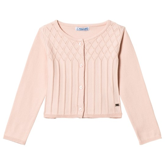 Mayoral Pink Knit Patterned Cardigan 39
