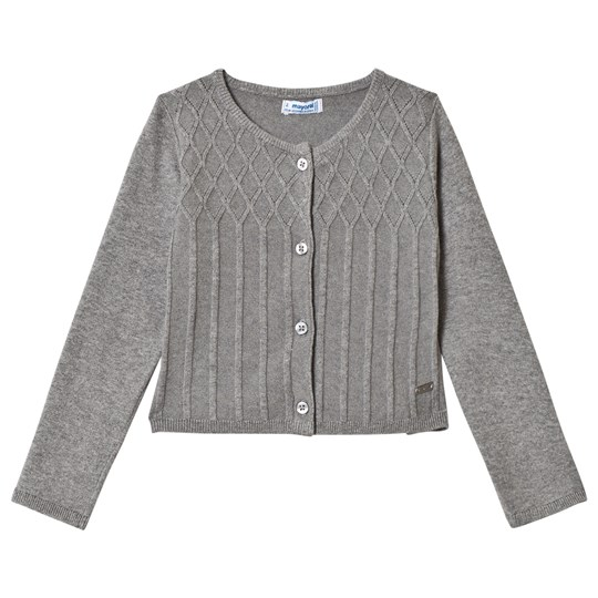 Mayoral Grey Knit Patterned Cardigan 42