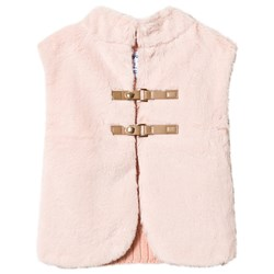 Mayoral Pink Faux Fur & Knitted Back Gilet