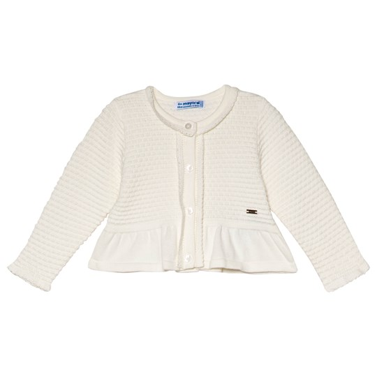 Mayoral Off-White Knitted Cardigan 46