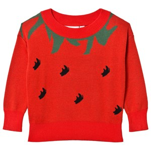 Image of Gardner and the gang Knitted Jumper Strawberry Red 8-10 år (3056086241)