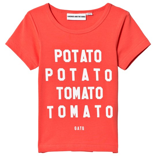 Gardner and the gang Cool Tee Potato Tomato Red Red