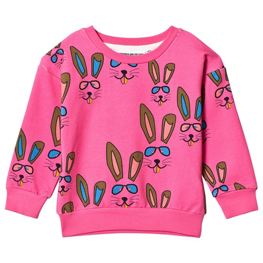 Gardner and the gang The Classic Sweatshirt Benny Bunny Pink Pink