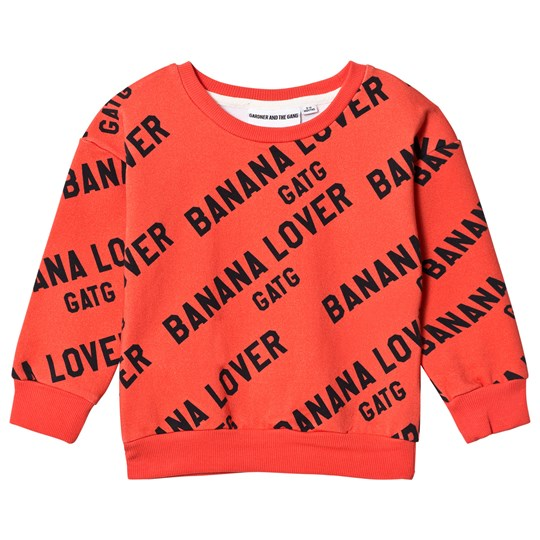 Gardner and the gang Classic Sweatshirt Banana Lover AOP Red Punainen