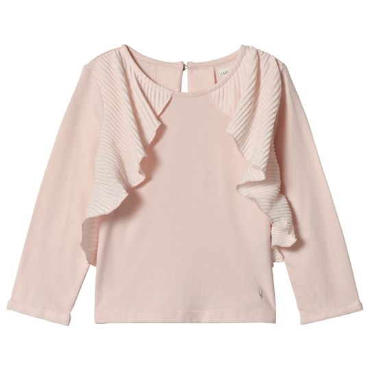 Carrément Beau Pale Pink Pleated Frill Tee 45B