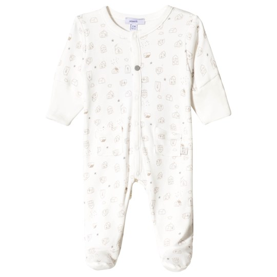 Absorba White and Gold New Home Print Jersey Baby Body 11