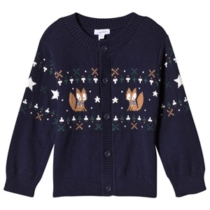 Image of Absorba Navy Fox Fairisle Cardigan 12 months (3056071281)