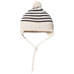 FUB Baby Striped Hat Ecru/Navy