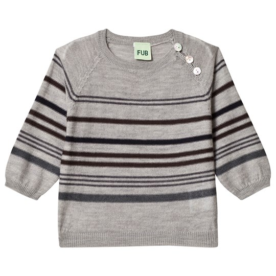 FUB Baby Multi Stripe Sweater Light Grey Light Grey