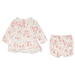 Mintini Baby Pink Floral Dress and Bloomers