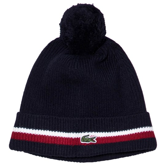 Lacoste Branded Beanie Navy AS5