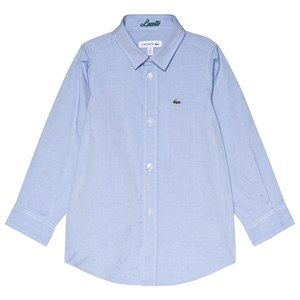 Image of Lacoste Blue Oxford Long Sleeve Shirt 10 years (3056087659)