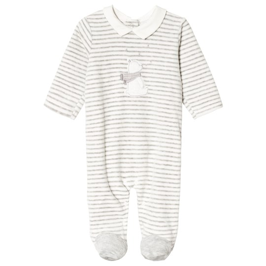 Mayoral Steam Melange Striped Velour Footed Baby Body 34