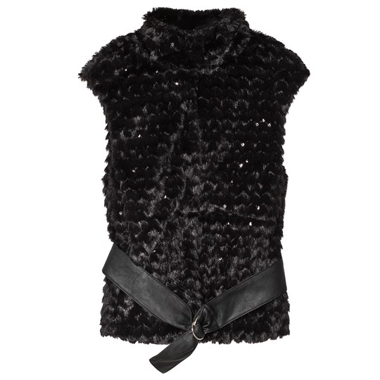 Mayoral Black Faux Fur and Sequin Gilet 66