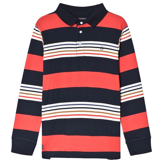 Mayoral Red and Navy Stripe Long Sleeve Polo 60