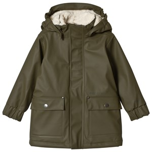 Image of Didriksons Ekholm Kid´s Galon Coat Peat 110 cm (4-5 år) (3056106265)