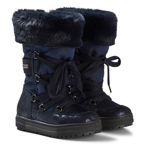 Image of Naturino Navy Floral Avila Tall Boots Snow Boots 25 (UK 8) (1147544)