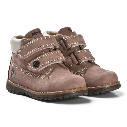 Primigi Fawn and Rose Velcro Ankle Boots Taupe