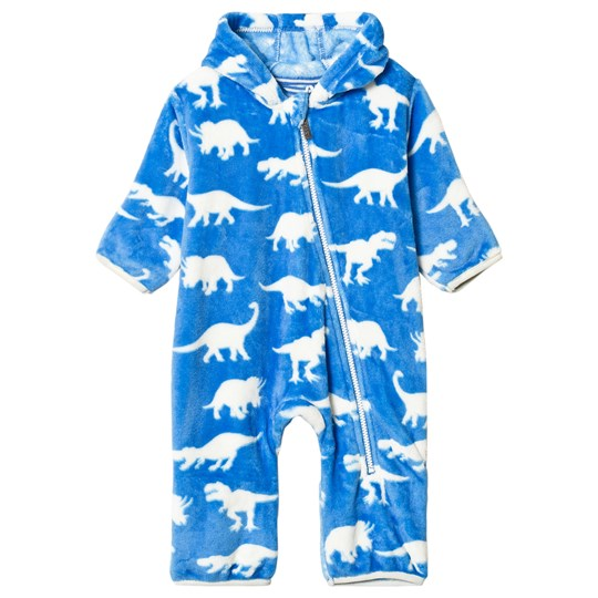 Hatley Blue Roaming Dinos Fuzzy Fleece Onesie Blue