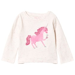 Hatley Pink Curious Unicorn Long Sleeve Tee