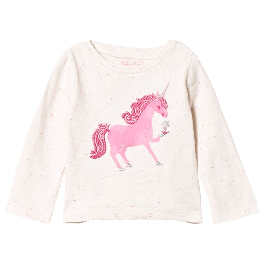 Hatley Pink Curious Unicorn Long Sleeve Tee Pink